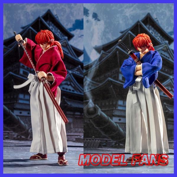fas modelo em estoque dasin anime rurouni kenshin himura kenshin pvc figura de acao brinquedo modelo