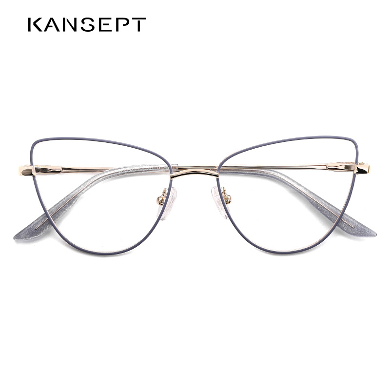 KANSEPT Women Glasses Frame Fashion Optical Eyeglasses Frame Myopia Women Eyewear Frame 2020 New Arrival Lavender Color MG3531