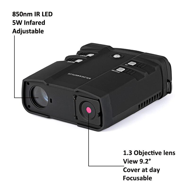 Tools : WILDGAMEPLUS WG500B 1080P HD Night Vision Binoculars NV 10X31 Zoom Digital Infrared Hunting Night Vision Binocular IR Telescope