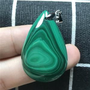 Image 4 - Natuurlijke Groene Malachiet Hanger Sieraden Voor Vrouwen Lady Man Crystal 925 Zilveren 37x25x8mm Kralen Edelsteen ketting Hanger AAAAA