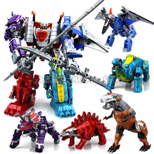 32cm Big Size! 5 In 1 Dinosaur Defromation Robot 21cm Transformation Anime Action Figures Model Toys for Children Boys Gifts
