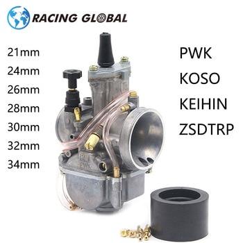 ALCON-Carburador de la motocicleta Park Koso OKO Carburador 21 24 26 28 30 32 34mm 2T 4T motor con poder Jet Universal