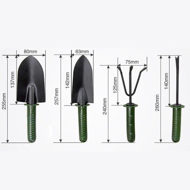 FIRMOR 4Pcs Garden tool set Flower Planting Combination Shovel Tool Set Tool Sets Mini Gardening Plant Tools Shovel Rake Spade 5