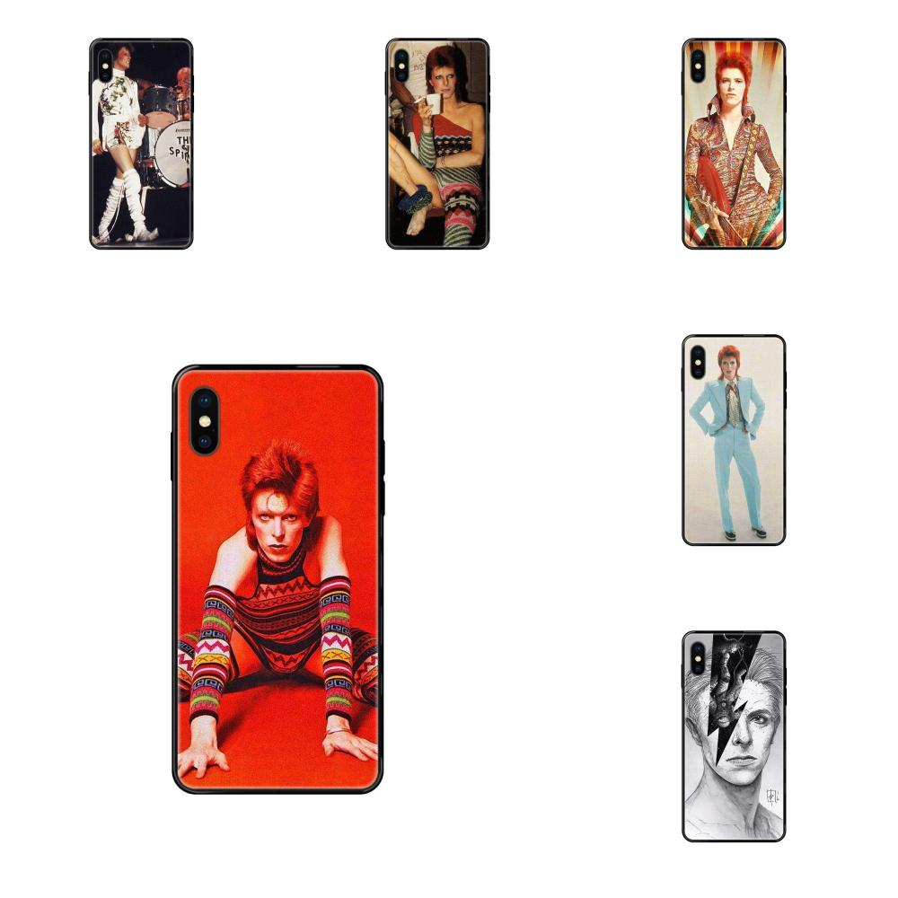 For Apple iPhone X XR XS 11 12Pro MAX 5S 5C SE 6S 7 8 Plus 2020 Soft TPU Black Case Ziggy Stardust David Bowie Rock