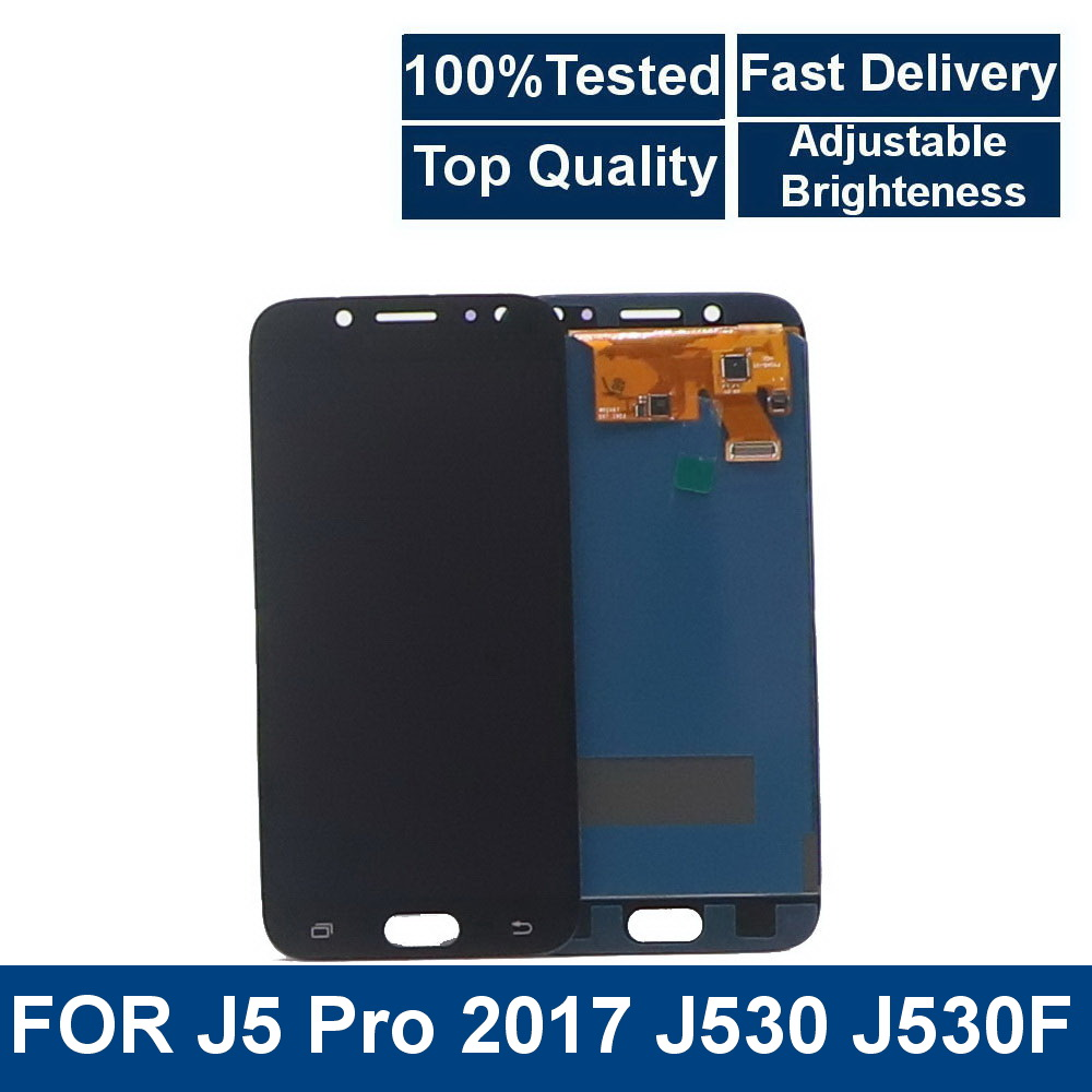 100%tested For Samsung Galaxy J5 2017 J530 SM-J530F J530M Phone LCD Display Touch Screen Digitizer Assembly Brightness Control