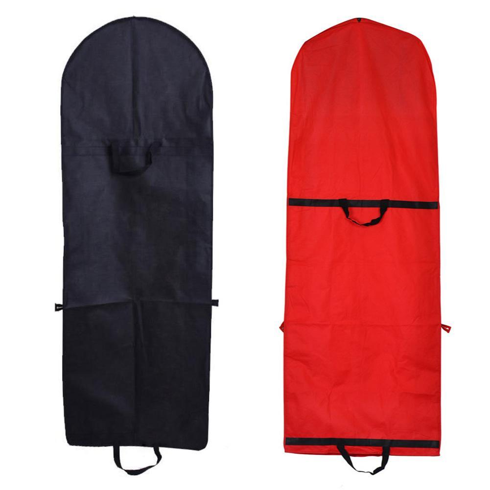 Wedding Dress Dust Cover With Zipper Bride Gown Storage Bag Garment Clothes Case Garment Bag Non-woven Mesh Long Clothes Cover