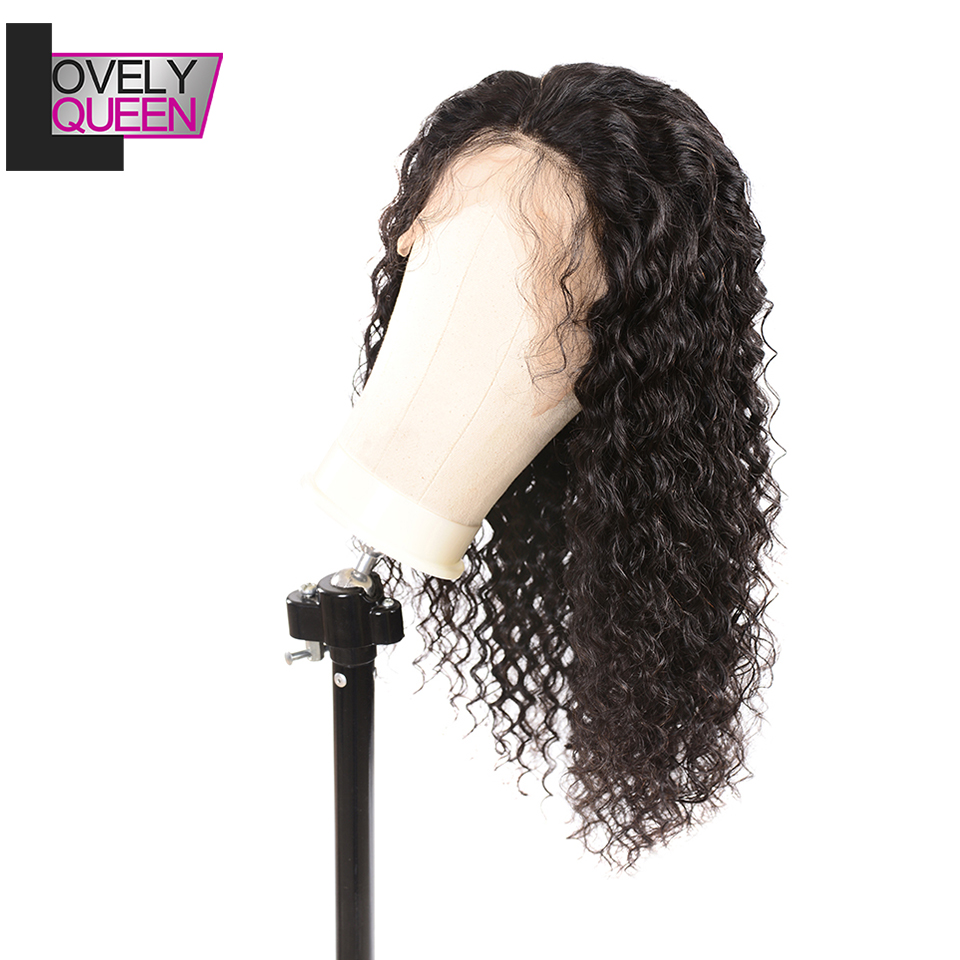 Pre Plucked Hairline With Baby Hair 150% Density Remy Hair Indian Hair  Water Wave Human Hair Wigs For Black Women