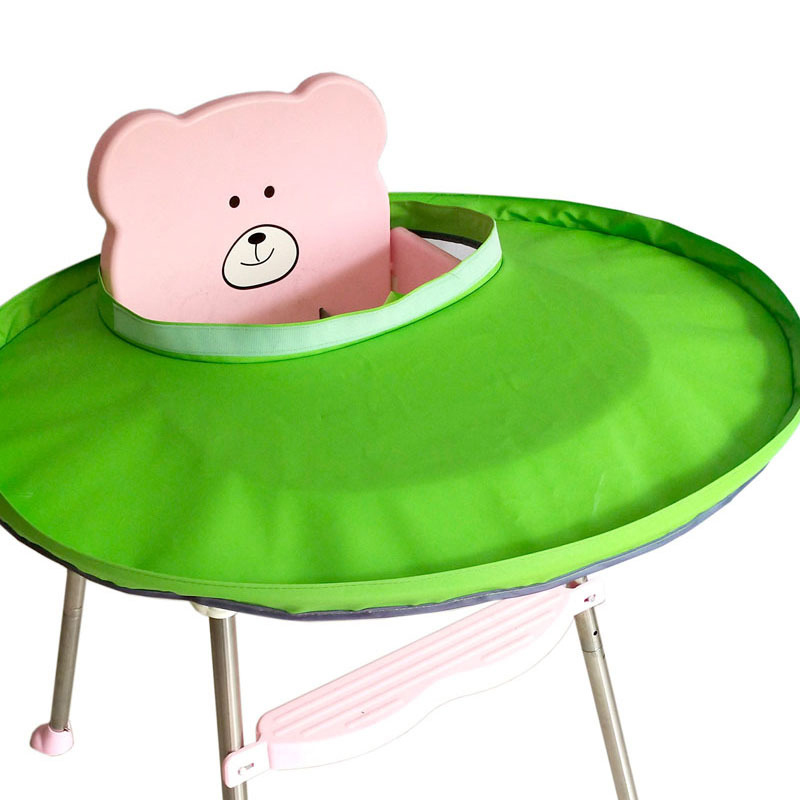 Luxurious Material TPU For Baby BLW Self-feeding Anti-dirty Artifact Children Dining Chair Bib Tray Mat Saucer