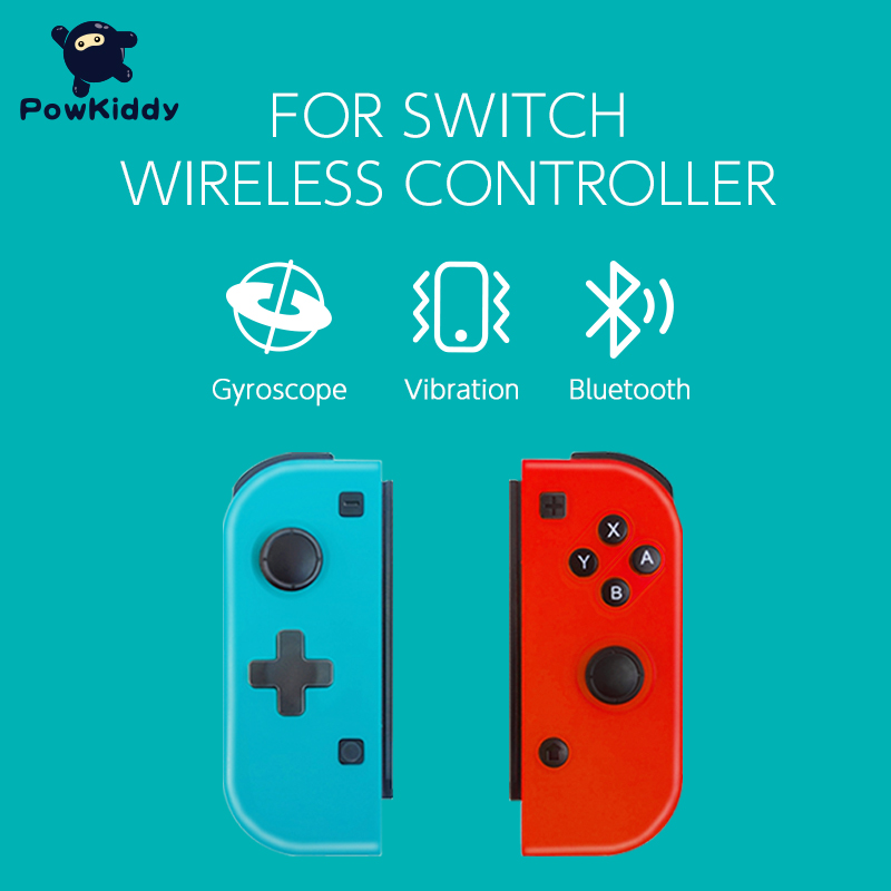 POWKIDDY 2pcs/Set Game Controller Handle For Switch Host Joy Gamepad Console Joy Dpad Gamepad Video Game USB Joystick Control 5