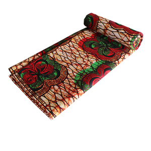 Image 2 - Africa Ankara Printing Patchwork Fabric Real Wax Tissu African Sewing Material for Dress Craft DIY Accessory Pagne 100% Cotton