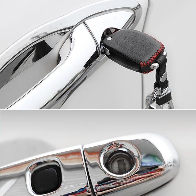for KIA Sportage MK3 SL 2011 2012 2013 2014 2015 Chrome Door Handle Cover Exterior Trim Catch Car Cap Stickers Accessories ABS 3