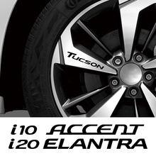 4 шт. автомобильные наклейки на колеса для Hyundai ACCENT AZERA Elantra GDI GENSIS i10 20 30 40 IX 20 35 SANTAFE SOLARIS SONATA Tucson VELOSTER