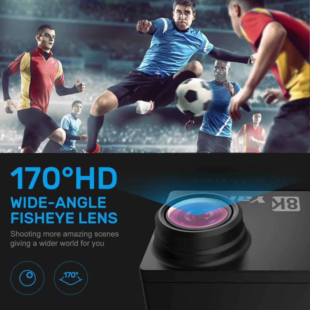 Nouvelle arrivée Yarber AR01 8K 20MP sport Action caméras vidéo WIFI Bluetooth camara deportiva sport action caméra casque vidéo Cam - 4