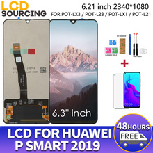 """6.21"""" For Huawei P Smart 2019 LCD Display 10 Touch + Frame Touch Screen Digiziter Assembly For POT LX1 L21 LX3 Replace"""