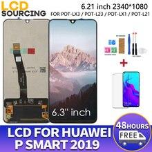 """6.21 """"עבור Huawei P חכם 2019 LCD תצוגת 10 מגע + מסגרת מגע מסך Digiziter עצרת עבור POT LX1 l21 LX3 להחליף"""