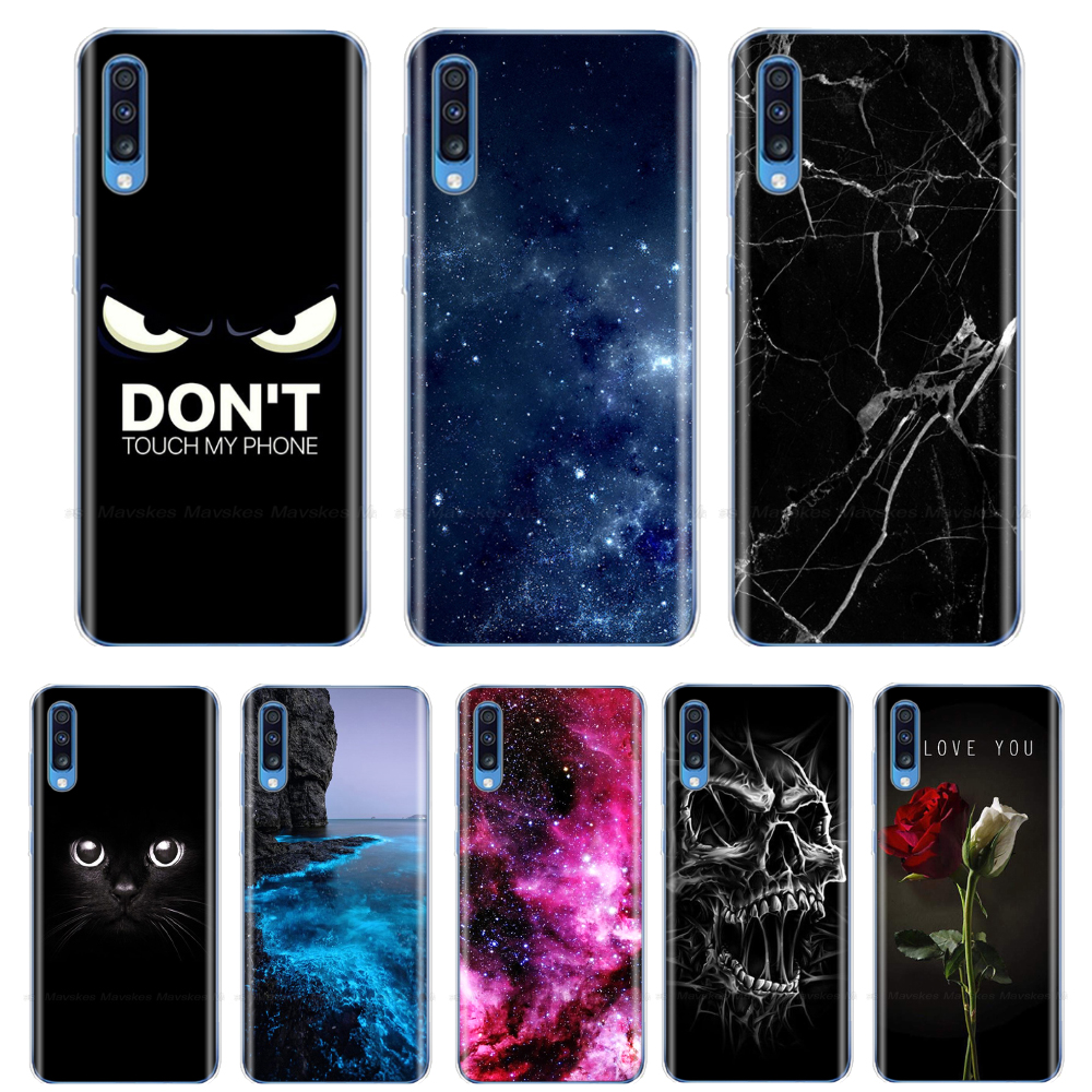For Samsung A70 2019 Case Soft TPU Phone Back Cover for Samsung Galaxy A70 Silicon Cases Coque Capa A 70 A705 A705F Bumper Shell image
