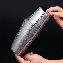 Деликатная гравировка из нержавеющей стали шейкер для коктейлей
