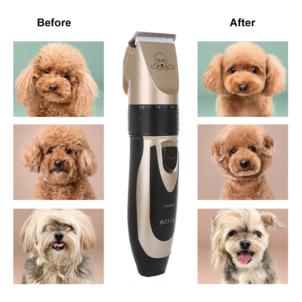 Powerful Electric Dog Hair Trimmer Kit Rechargeable Pet Hair Clipper Pet Dog Cat Grooming Haircut Shaver Machine 3