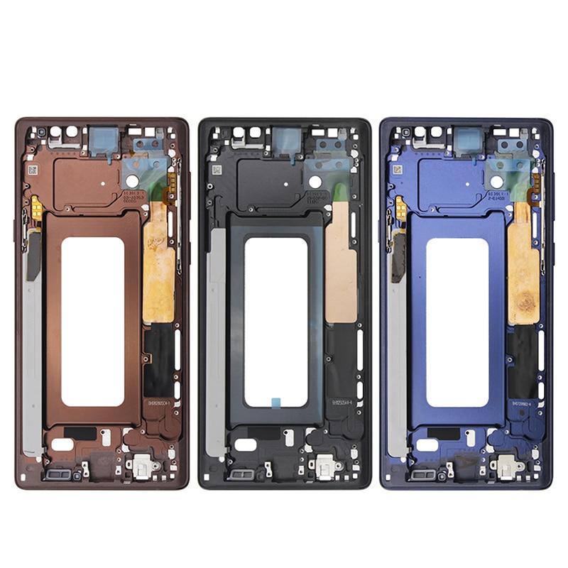 Note9 для Samsung Galaxy Note 9 N960 средняя рамка пластина корпус доска ЖК-поддержка средняя лицевая пластина рамка ЗАМЕНА Запасные части для ремонта