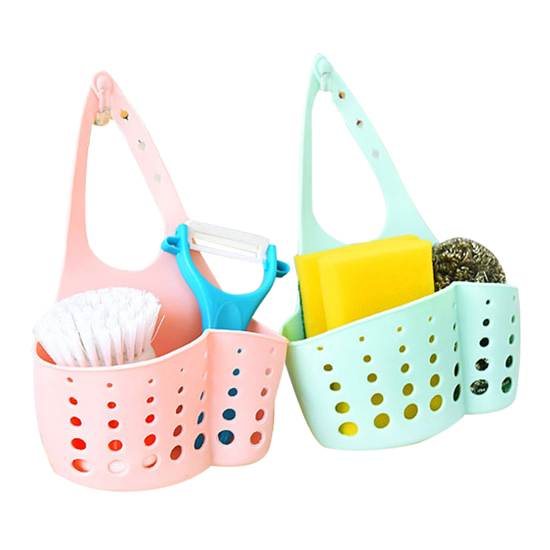 Kitchen Sink Sponge Holder Storage Hanging Basket Organizer Kitchen Wall Holder Bathroom Sink Organizer Drain Door Sponge Sink Q