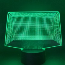 Night Light Led Football gate USB 3D LED Night Light color changing Kids Gifts WOW Table Lamp Bedroom Night Light for Children цена