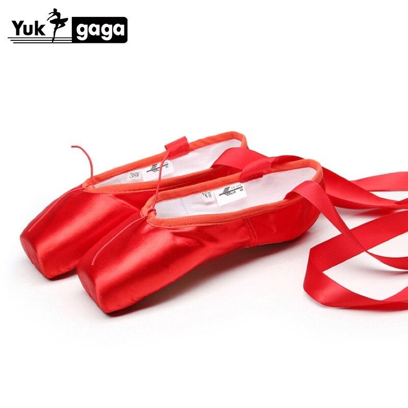 Pointe Toe Shoes Satin Ballet Soft Dance Shoes Spilt Outsole Ballet Slippers Black Red Nude Silk Shoes
