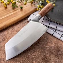 SHUOJI 4Cr13 มีดเชฟ 7 นิ้วจีนมีดครัวเนื้อปลาผักมีดหั่นSuper Sharp Blade Rosewood Cleaver