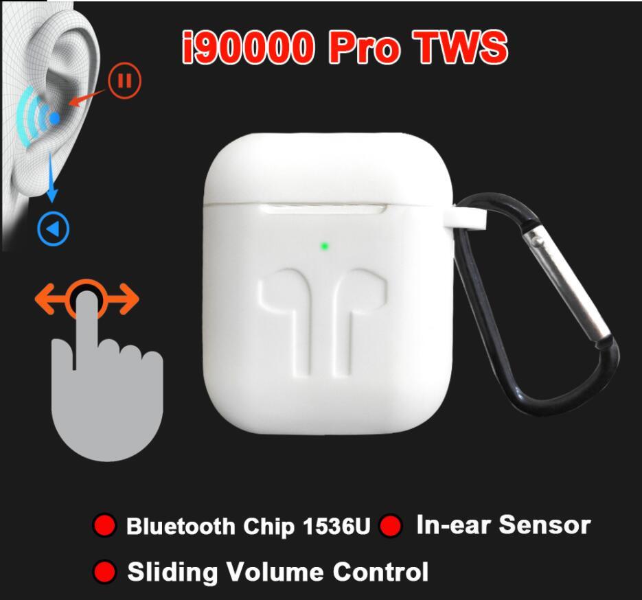 I90000Pro TWS Arie 2 Drahtlose Kopfhörer 8D Super Bass Bluetooth 5,0 Kopfhörer Schiebe Volumen Einstellung Ohrhörer PK i5000 i9000TWS