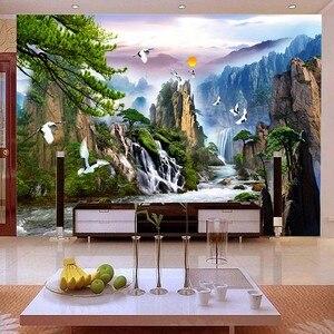 Image 2 - QIANZEHUI travaux de couture, bricolage, série paysage, faire de largent, décoration murale, daccueil, pour accueillir les invités au pin au point de croix