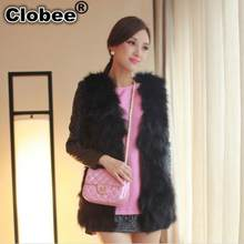 2019 Fake Vintage Women Faux Fur Vest Special Fall long fuax fur Coat Winter Furry Outwear Long Hair Jackets Overcoat Tops L686(China)