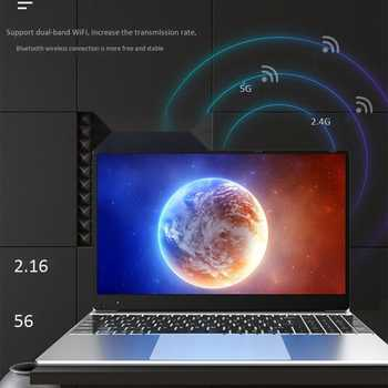 15.6-Inch Laptop N4100 Processor 8G+128G Running Memory Support 2.4/5GWiFi Quad-Core Gaming Notebook(EU Plug)