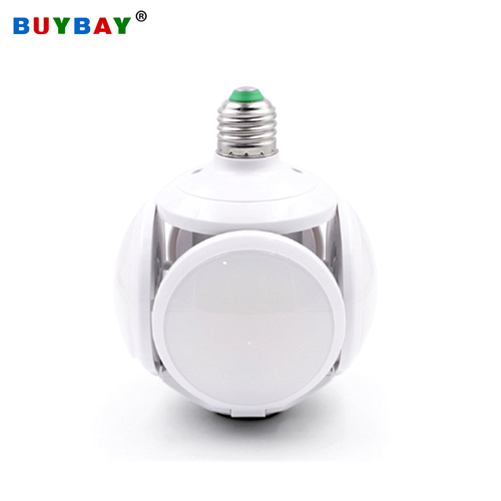 High Brightness LED Football Lamp Bulb Light E27 40W Folding Ball Bulb UFO Lamp Led 85-265V Pendant Lights Replace Halogen Light