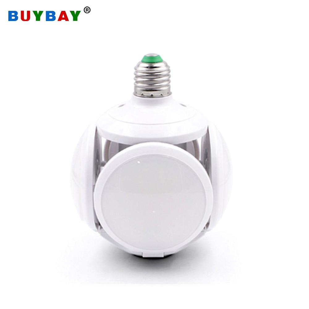 High Brightness LED Football Lamp Bulb Light E27 40W Folding Ball Bulb UFO Lamp Led 85-265V Pendant Lights Replace Halogen Light