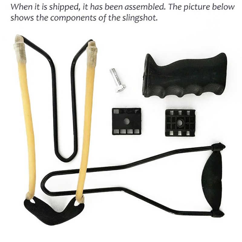 กลางแจ้งที่มีประสิทธิภาพ Slingshot สายรัดข้อมือ Shot Slingshot Bow Catapult สำหรับล่าสัตว์ Handhold ยิง Slingshot