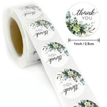 100-500 Round Labels Kraft Paper Self-Adhesive Dragee Bag Flower Gift Box Packaging Bag Wedding DIY Biscuit Cake Thank You Stick