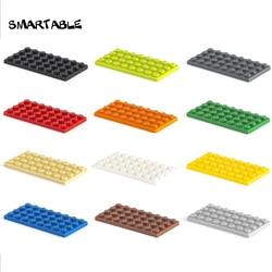 Smartable Plate 4X8 Building Blocks MOC Parts Creative Toys For Kids Compatible MajorBrands 3035 Educational MOC Toys 20pcs/lot