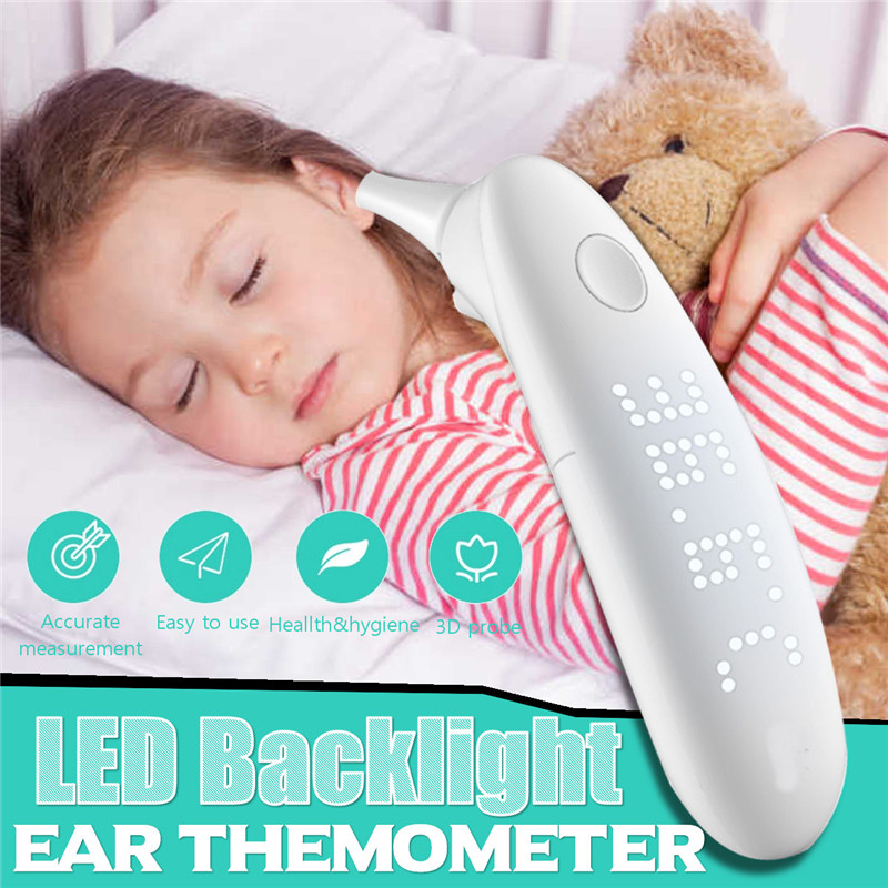 Smart Ear Themometer 9 Channal Infrared Household Medical Adult Baby Fever Thermometer LED Medical Digital Display Thermometer