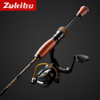 Trout rod UL/L action high carbon lure fishing rod 1.8m/1.98m/2.1m spinning rod wood handle  bass rod 2 sections