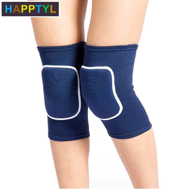 HAPPTYL 1Pair Knee Pad Breathable Knee Support Crashproof Antislip Leg Knee Sleeve Protective Pad