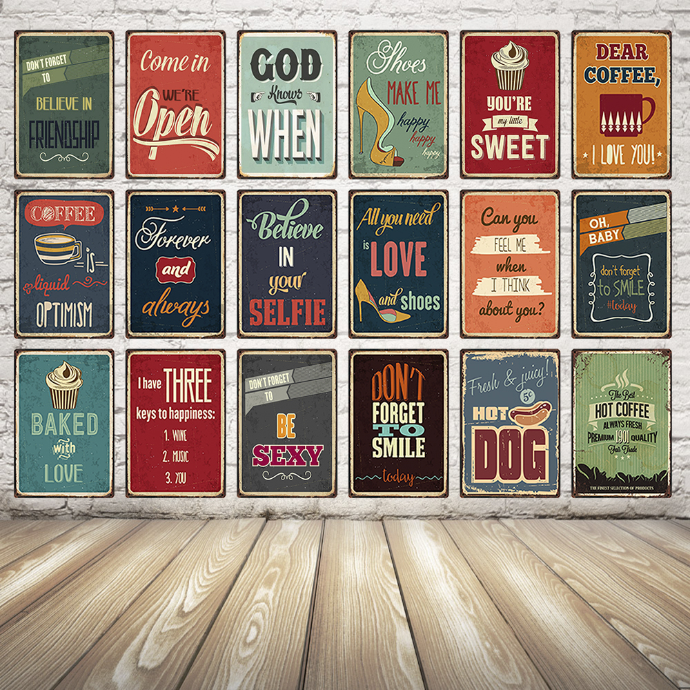 [ Kelly66 ] Quote Motivational Vintage Metal Sign Poster Home Decor Bar Wall Claft Art Painting 20*30 CM Size Dy8