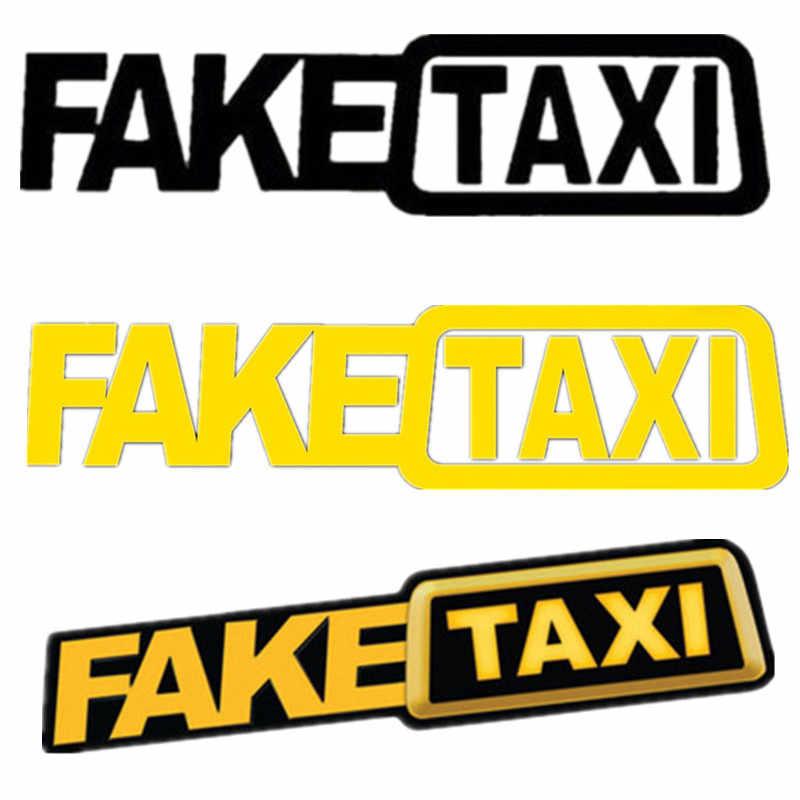 Поддельные такси автомобиль Стайлинг самоклеющиеся забавные бампер окна тела дрейф JDM турбо Hoon гоночные виниловые наклейки для Honda Audi Opel
