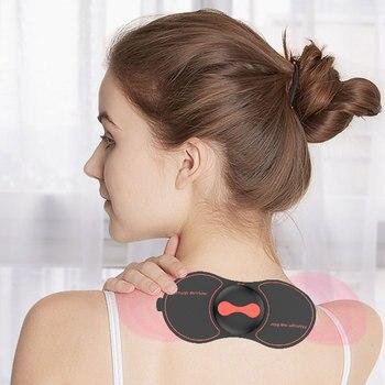 Przenośny MIni EMS masażer szyi mięśni ramię masażer motyl projekt masażer ciała odchudzanie ciała elektroniczny masażer