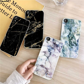Marble 3 Silicon Soft TPU Case Cover For HTC Desire One X9 M9 M10 U11 630 650 820 825 828 830 10 12 Plus Pro Evo image