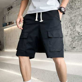 Men's shorts 2020 summer new slim-fit multi-pocket decorative baggy pants shorts loose casual personality youth men's wear