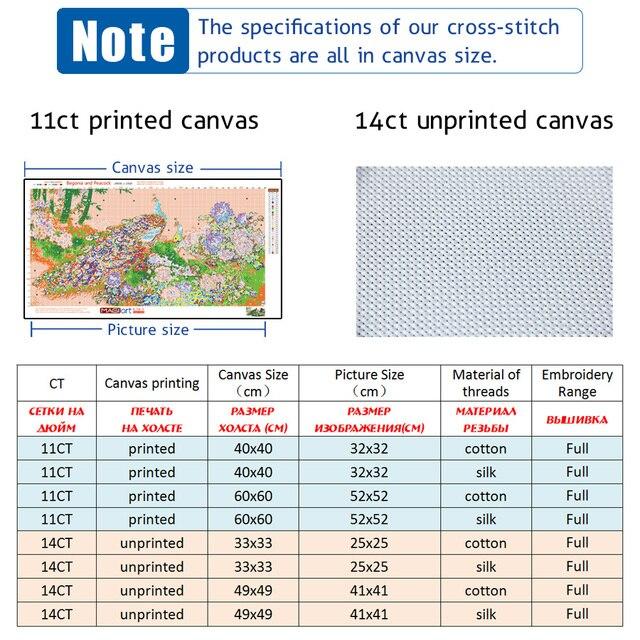 عبر عدة خياطة التطريز التطريز مجموعات 11CT للذوبان في الماء أنماط قماش 14CT نمط هندسي instrument-NCMP010