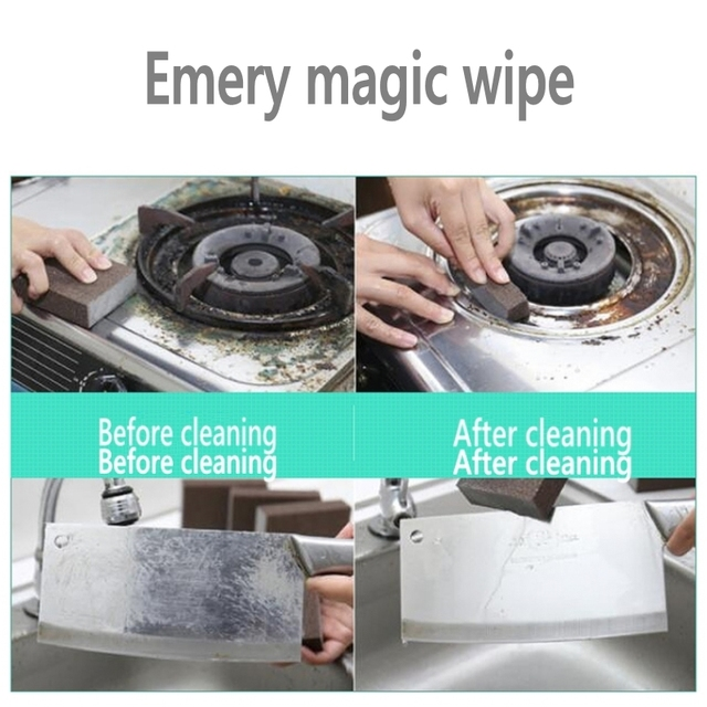 Kitchen Accessories Emery Nano Sponge Magic sponge for Removing Rust Cleaning Cotton Gadget Descaling Clean Rub Pot Kitchen Tool