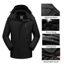 Men Winter Jacket Waterproof Hooded Windbreaker Male Thick W