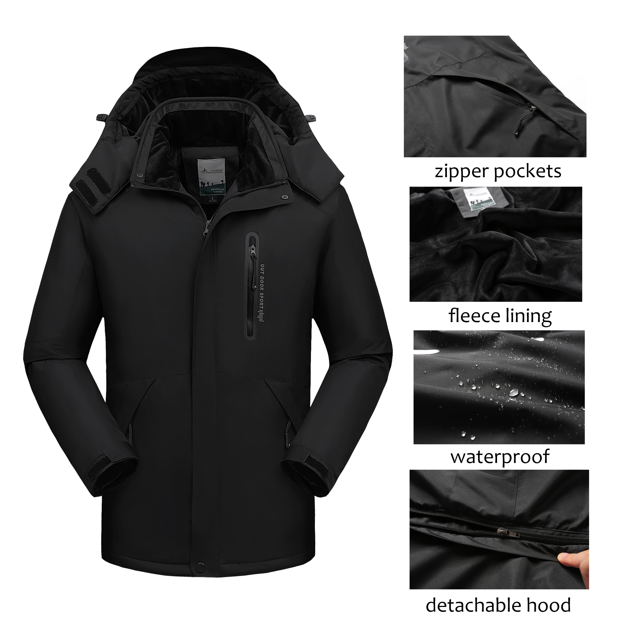 Fleece Jacket Parkas Coat Men Hooded Warm Male Waterproof 7XL Men Winter 8XL 9XL Windbreaker title=