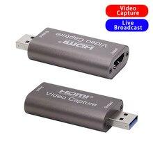 4k placa de captura de vídeo usb 3.0 usb2.0 hdmi-compatível grabber gravador para ps4 jogo dvd filmadora gravação ao vivo streaming