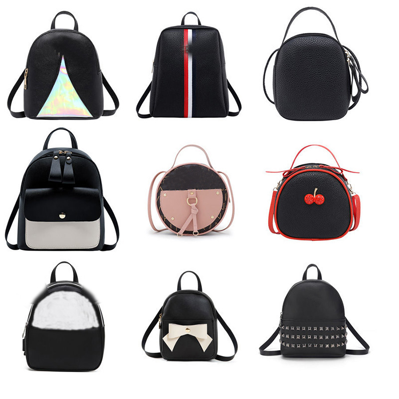 Women Bag Fashion Lady Backpack Mini Mobile Phone Bag Hand Shoulder Diagonal Cross Bag  Student Small Backpack
